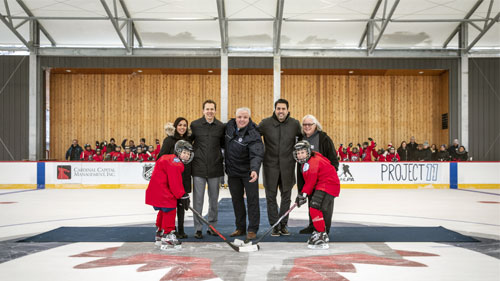 State of the art outdoor rink opens at Camp Manitou