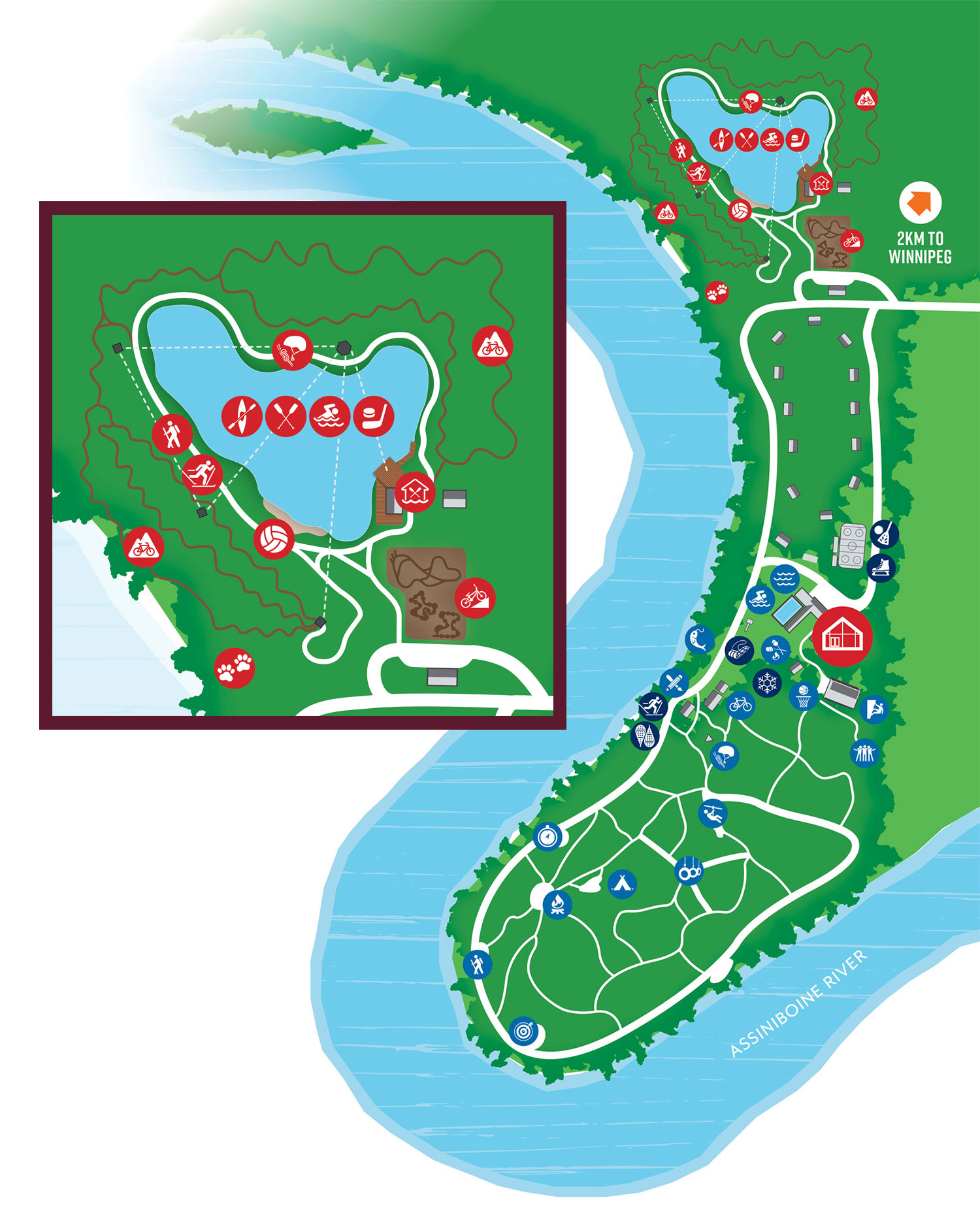 Camp Manitou map and attractions
